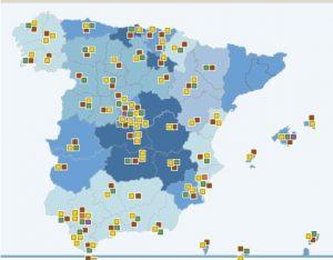 Mapa de prisiones España