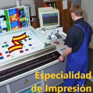 Oficiales de Arsenales: especialidad de impresión